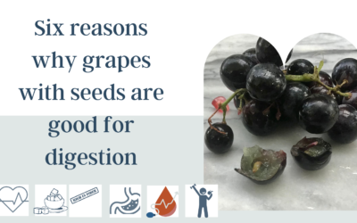 Do grapes with seeds improve digestion and diverticulosis?